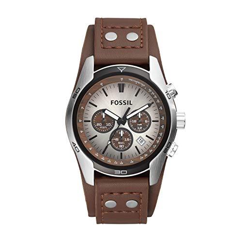 fossil herren armbanduhr sport chronograph leder braun. Black Bedroom Furniture Sets. Home Design Ideas