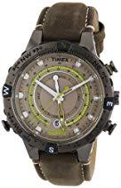 Timex Herren-Armbanduhr XL Tide Temp Compass Analog Leder T2N739
