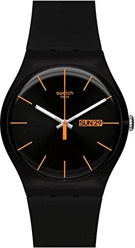 Swatch Dark Rebel SUOB704 Unisex-Armbanduhr