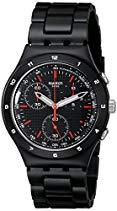 Swatch Black Coat YCB4019AG Unisex-Armbanduhr