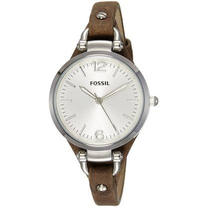 Fossil Damen-Armbanduhr XS Ladies Dress Analog Leder ES3060
