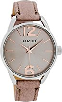 Oozoo Damen-/ Kinderuhr JR281 pinkgrau 38 mm - Lederband