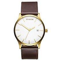 MVMT Herren Watch Uhr White/Gold Leder Armband MM01WGL