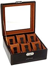 Friedrich|Uhrenbox für 10 Uhren Kunststoff  Braun 20068-3