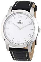 Festina Herren-Armbanduhr XL Klassik Analog Quarz Leder F16506/3
