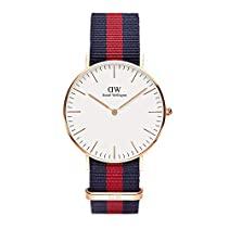 Daniel Wellington Damen-Armbanduhr Oxford Analog Quarz Nylon 0501DW