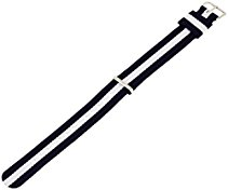 Daniel Wellington Damen Uhren-Armband Classic Glasgow Natostrap Blau-Weiss Schliesse Silber 0802DW