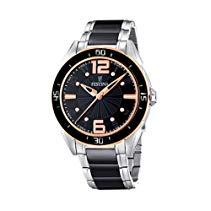 Festina Damen-Armbanduhr Trend Ceramic Analog Quarz verschiedene Materialien F16396/2