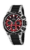 Festina Herren-Armbanduhr XL Chrono Bike 2014 Analog Quarz verschiedene Materialien F16775/8