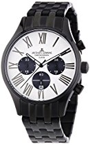 Jacques Lemans Herren-Armbanduhr XL Capri Chronograph Quarz Edelstahl beschichtet 1-1342B