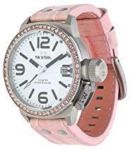 TW Steel Damen-Armbanduhr XL Canteen Style Analog Quarz Leder TW-36