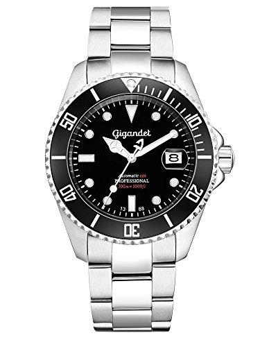 Gigandet SEA GROUND Automatik Herren Armbanduhr 'G2' Taucheruhr mit Edelstahlarmband - G2-002