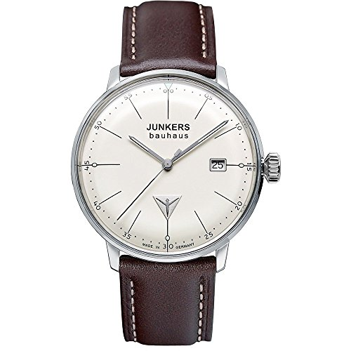 Junkers Damen-Armbanduhr XS Bauhaus Analog Quarz Leder 60715