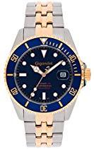 Gigandet SEA GROUND Automatik Herren Armbanduhr - Taucheruhr 300m wasserdicht mit Edelstahlarmband und blauem Zifferblatt - G2-021