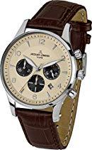 Jacques Lemans Herren-Armbanduhr XL London Chronograph Quarz Leder 1-1654E
