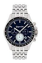 Gigandet VOLANTE Herren Quarz Chronograph - Armbanduhr mit analoger Anzeige - 100m/10atm wasserdicht mit Datumsanzeige, silbernem Edelstahlarmband und blauem Zifferblatt - G3-014