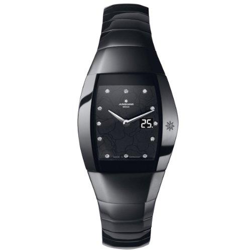 Junghans Damen-Armbanduhr XS Aura Quadra Analog Keramik 013/1122.44