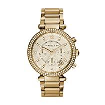 Michael Kors Damen-Armbanduhr Parker Chronograph Quarz golfarbener Edelstahl MK5354