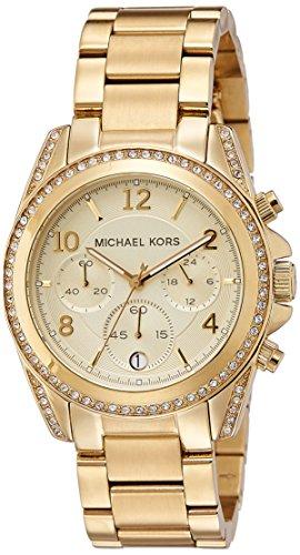 Michael Kors Damen-Armbanduhr Blair Chronograph Quarz Edelstahl beschichtet MK5166