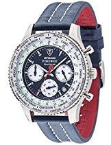 Detomaso Herren-Armbanduhr FIRENZE RACING BLUE Chrono Trend Chronograph Quarz Leder DT1069-A