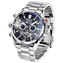 Ingersoll Herren-Armbanduhr Bison N049 Chronograph Automatik verschiedene Materialien IN1507BKBL