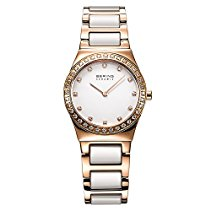 Bering Time Damen-Armbanduhr XS Ceramic Analog Quarz verschiedene Materialien 32430-761