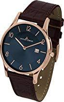 Jacques Lemans Herren-Armbanduhr XL London Analog Quarz Leder 1-1777U