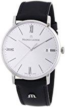 Maurice Lacroix Herren-Armbanduhr XL Eliros Analog Quarz Leder EL1087-SS001-110
