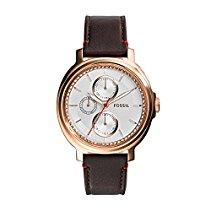 Fossil Damen-Armbanduhr Chelsey Analog Quarz Leder ES3594