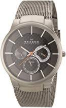 Skagen Herren-Armbanduhr XL Analog Quarz Edelstahl beschichtet 809XLTTM