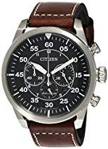 Citizen Herren-Armbanduhr XL Chronograph Quarz Leder CA4210-16E
