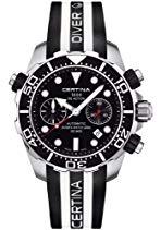 Certina Herren-Armbanduhr XL Chronograph Automatik Kautschuk C013.427.17.051.00