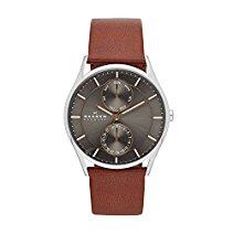 Skagen Herren-Armbanduhr Analog Quarz Leder SKW6086