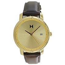 MVMT Watches Damen Uhr Gold/Brown Leder Armband MF01-GBR