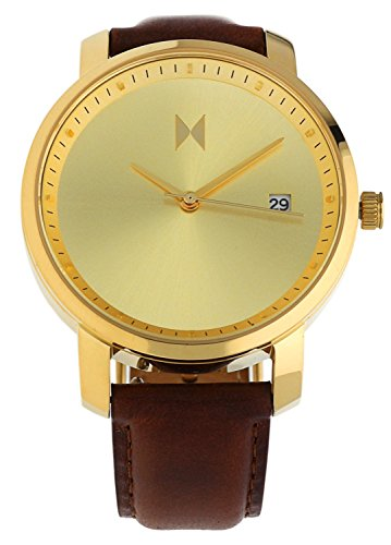 MVMT Watches Damen Uhr Gold/Brown Leder Armband MF01-GBR