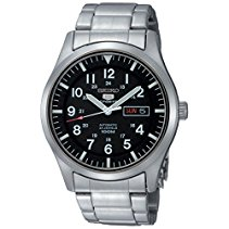 Seiko Herren-Armbanduhr XL Seiko 5 Sports Analog Automatik Edelstahl SNZG13K1