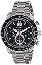 Seiko Herren-Armbanduhr XL Sportura Chronograph Quarz Edelstahl SPC137P1