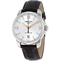 Certina Herren-Armbanduhr XL Analog Quarz Leder C001.410.16.037.01