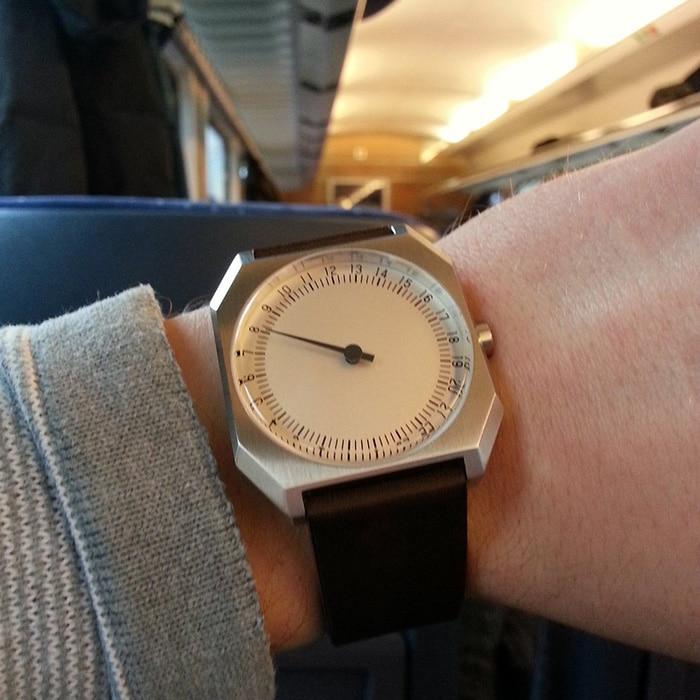 Auf dem Weg zur Baselworld 2016: Den Zug habe ich pünktlich erreichen können!