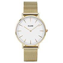 Cluse La Bohème Mesh Gold/White Armbanduhr CL18109