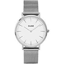 Cluse La Bohème Mesh Silver/White Armbanduhr CL18105