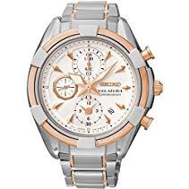Seiko Damen-Armbanduhr Velatura Chronograph Quarz Edelstahl SNDW58P1