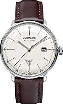 Junkers Herren-Armbanduhr XL Bauhaus Analog Automatik Leder 60505