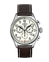 Junkers Herren-Armbanduhr XL Spitzbergen F13 Chronograph Quarz Leder 61865