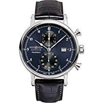 Zeppelin Herren-Armbanduhr Nordstern Chronograph Quarz Leder 75783