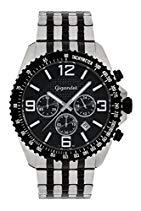 Gigandet FAST TRACK Herren Armbanduhr Chronograph Analog Quarz Schwarz Silber G12-003
