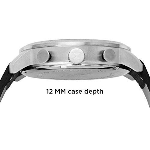 MVMT Herren Watch Uhr Chronograph White/ Caramel Leder Armband MCC01WT