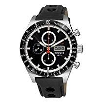 Tissot Herren-Armbanduhr Chronograph Automatik Leder T044.614.26.051.00