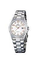 Festina Damen-Armbanduhr ACERO CLASICO Analog Quarz Edelstahl F16375-7