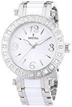 Festina Damen-Armbanduhr CERAMIC Analog Quarz verschiedene Materialien F16643-1